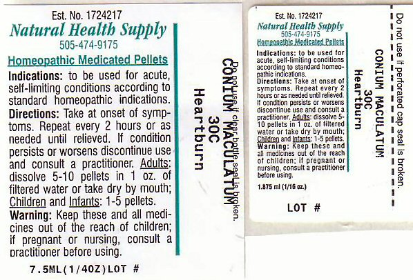 Heartburn (Conium Maculatum Flowering Top) Pellet [Natural Health Supply]