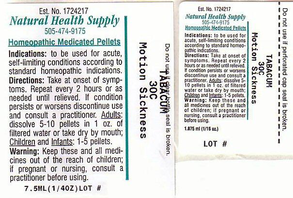 Motion Sickness 1 (Tobacco Leaf) Pellet [Natural Health Supply]