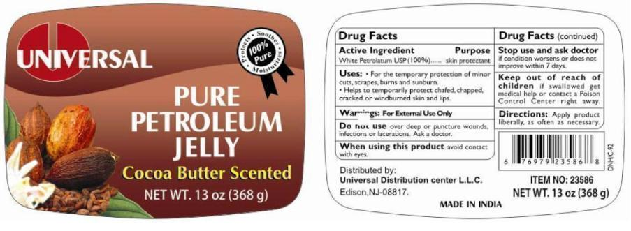 Universal Pure Petroleum Cocoa Butter Scented (White Petroleum) Jelly [Universal Distribution Center Llc]