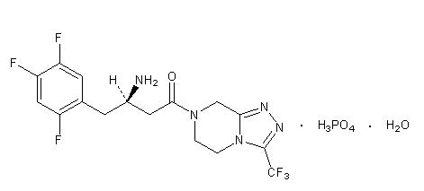 image of sitagliptin chemical structure