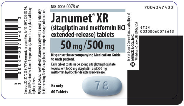 Janumet Xr (Sitagliptin And Metformin Hydrochloride) Tablet, Film Coated, Extended Release [Merck Sharp & Dohme Corp.]