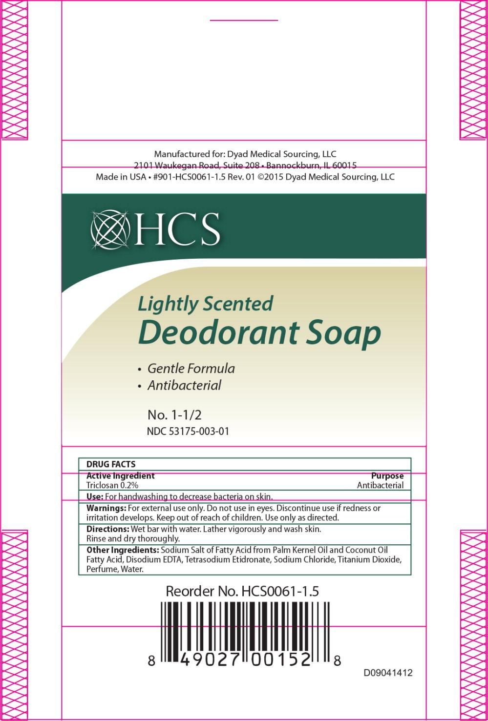 Triclosan Soap [Dyad Medical Sourcing, Llc]
