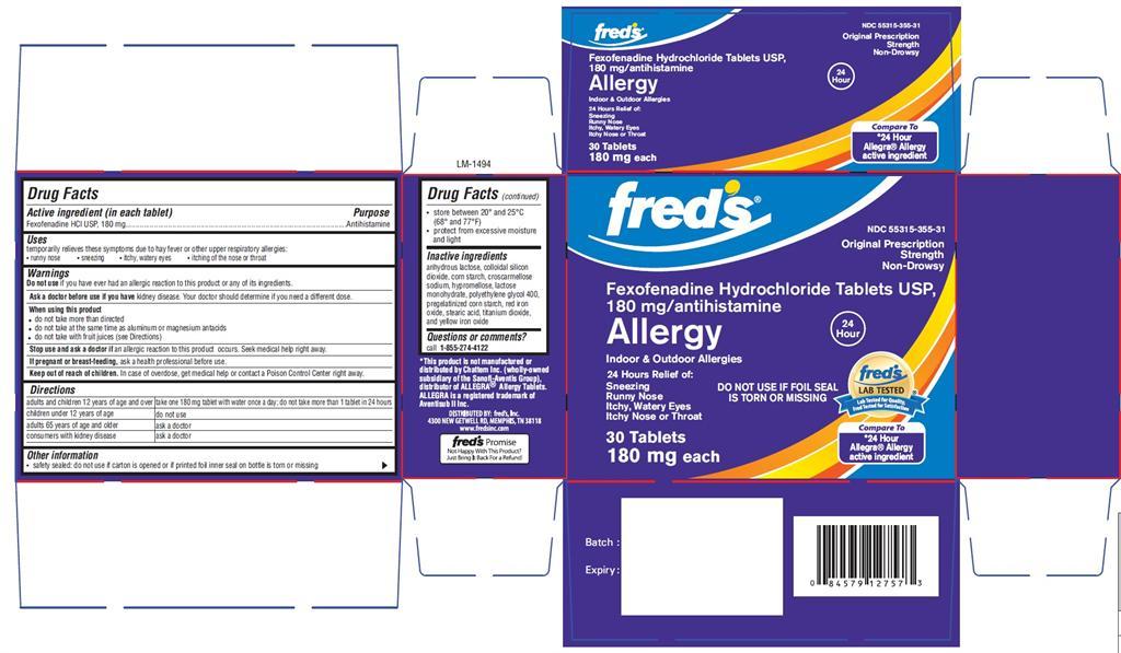 Fexofenadine Hydrochloride Tablet, Film Coated [Fred's]