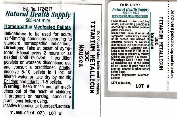 Nausea (Titanium) Pellet [Natural Health Supply]
