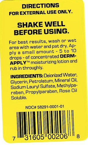 DERM-APPLY SENTED BACK