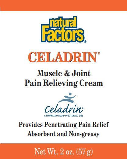 Celadrin (Menthol) Cream [Natural Factors Nutritional Products Ltd ]