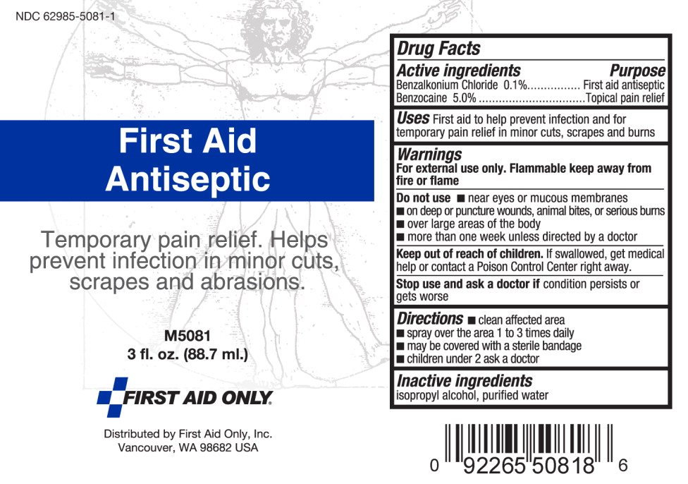 First Aid Antiseptic (Benzalkonium Chloride, Benzocaine) Spray [First Aid Only]