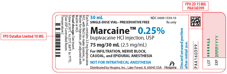 PRINCIPAL DISPLAY PANEL - 75 mg/30 mL Vial Label - 1559
