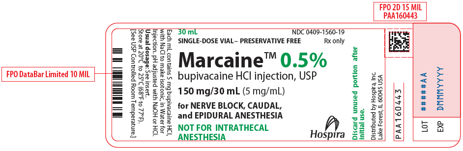 PRINCIPAL DISPLAY PANEL - 150 mg/30 mL Vial Label - 1560