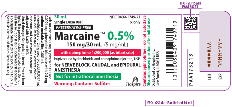 PRINCIPAL DISPLAY PANEL - 150 mg/30 mL Vial Label - 1749