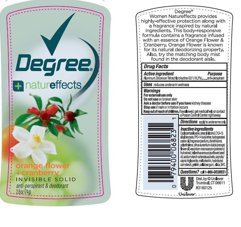 Degree Orange Flower And Cranberry Antiperspirant And Deodorant (Aluminum Zirconium Tetrachlorohydrex Gly) Stick [Conopco Inc. D/b/a Unilever]