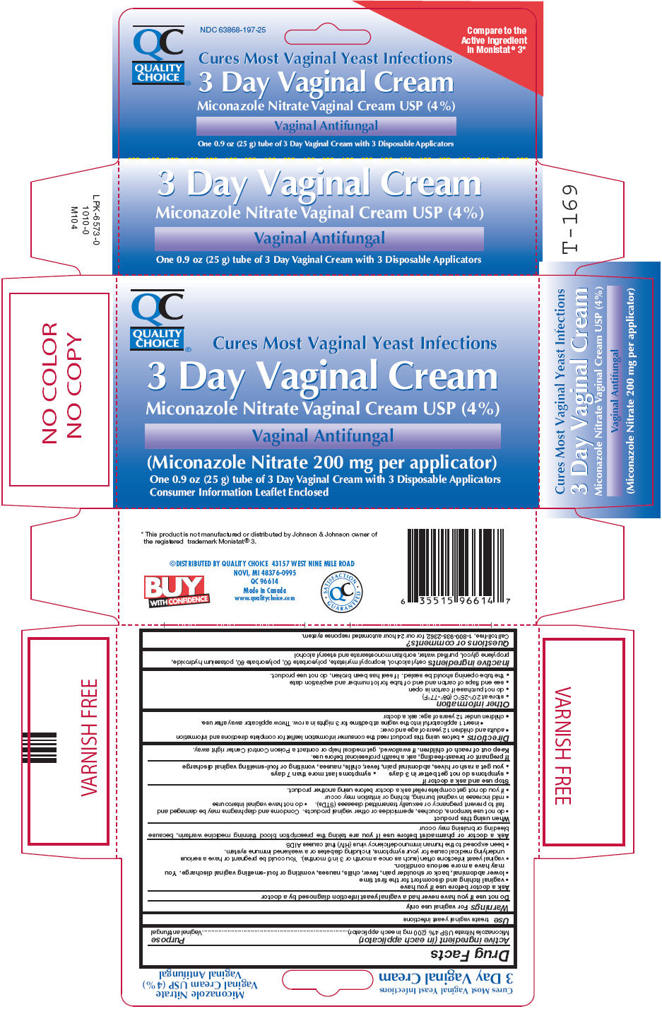 Quality Choice 3 Day Vaginal (Miconazole Nitrate) Cream [Chain Drug Marketing Association]