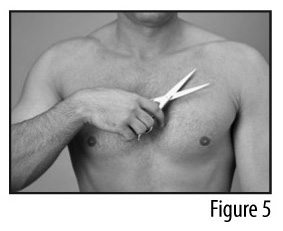 Figure 5 - Trimming chest hair