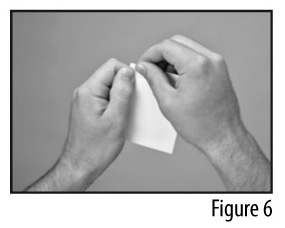 Figure 6 - Tearing open a pouch