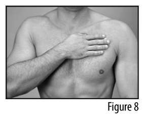 Figure 8 - Applying patch to chest