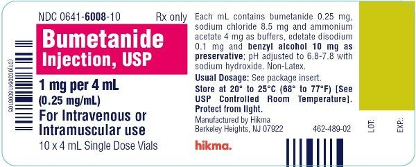 Bumetanide Injection [West-ward Pharmaceutical Corp.]
