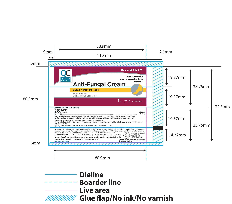 Quality Choice Tolnaftate Antifungal (Tolnaftate) Cream [Chain Drug Marketing Association Inc]