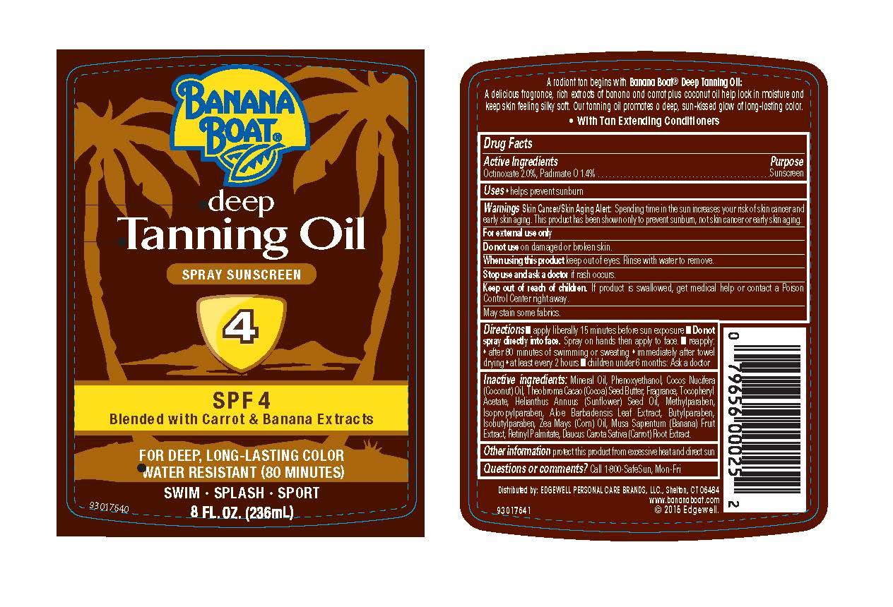 Banana Boat (Octinoxate, Padimate O) Oil [Energizer Personal Care Llc]