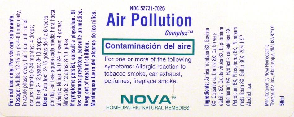 Air Pollution Complex (Arnica Montana 6x, Bovista 6x, Calcarea Carbonica 8x,carbo Vegetabilis 8x, Cicuta Virosa 6x, Euphorbium Officinarum 6x,hydrastis Canadensis 4x, Petroleum 6x, Phosphorus 8x, Plumbum Metallicum 8x, Sulfur 30x) Liquid [Nova Homeopathic Therapeutics, Inc.]