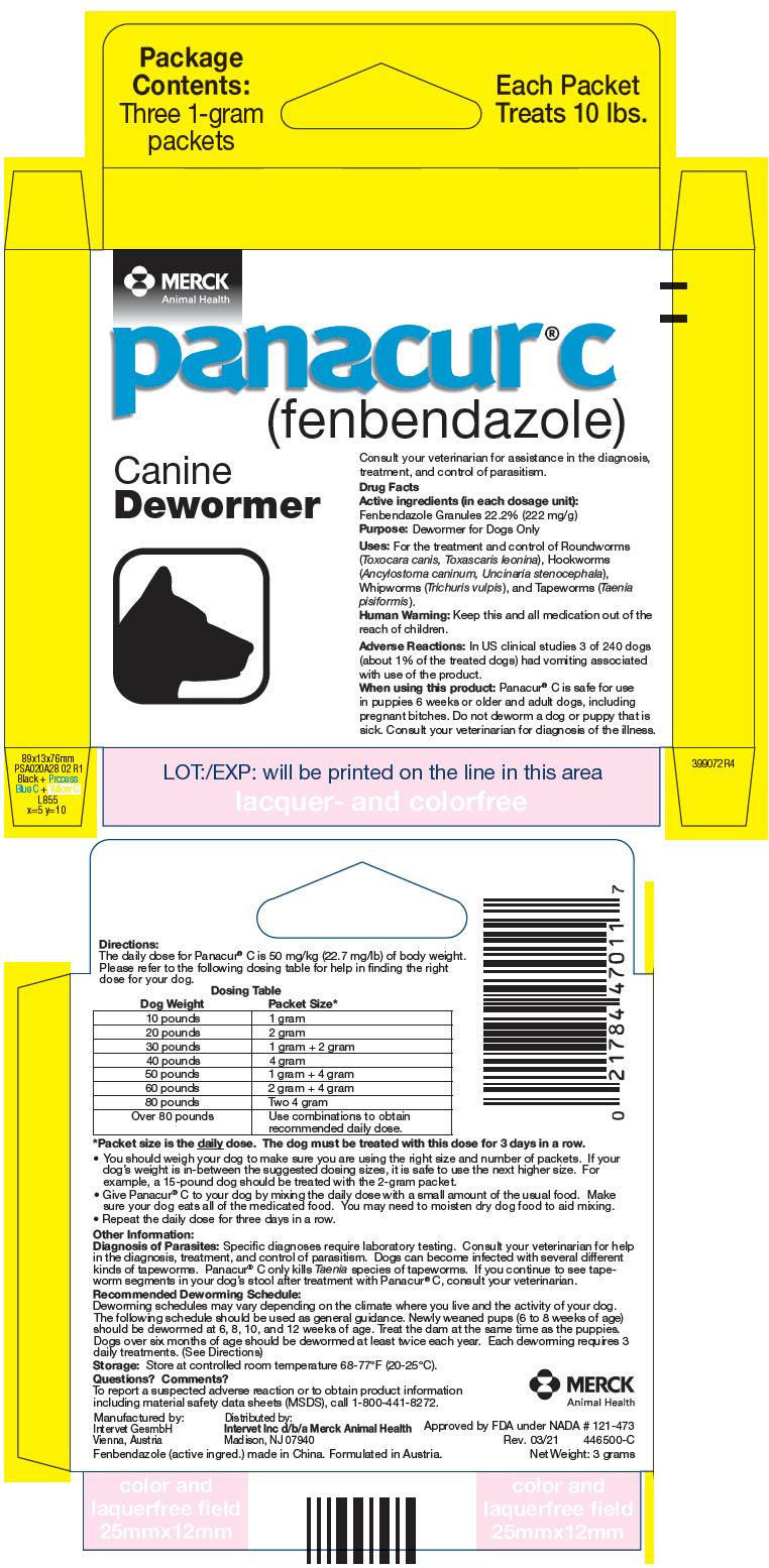 Panacur C Canine (Fenbendazole) Granule [Merck Sharp & Dohme Corp.]