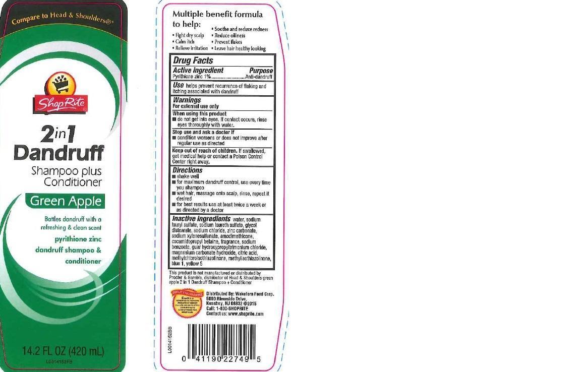 2 In 1 Dandruff (Pyrithione Zinc) Shampoo [Wakefern Food Corp]