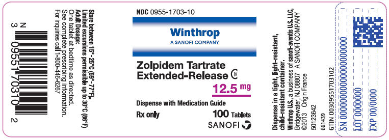 Principal Display Panel - 12.5 mg Tablet Bottle Label