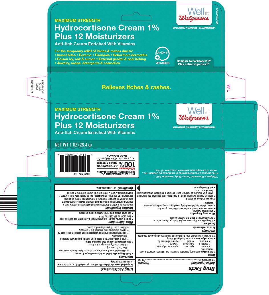 Walgreens Hydrocortisone Plus 12 Moisturizers (Hydrocortisone) Cream [Walgreen Company]