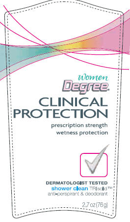 Degree Clinical Protection Shower Clean 2.7 oz front