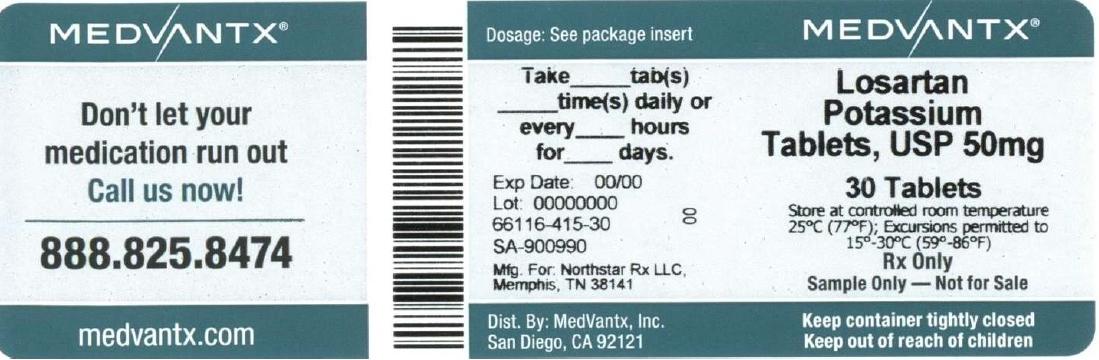 Losartan Potassium Tablet, Film Coated [Medvantx, Inc.]
