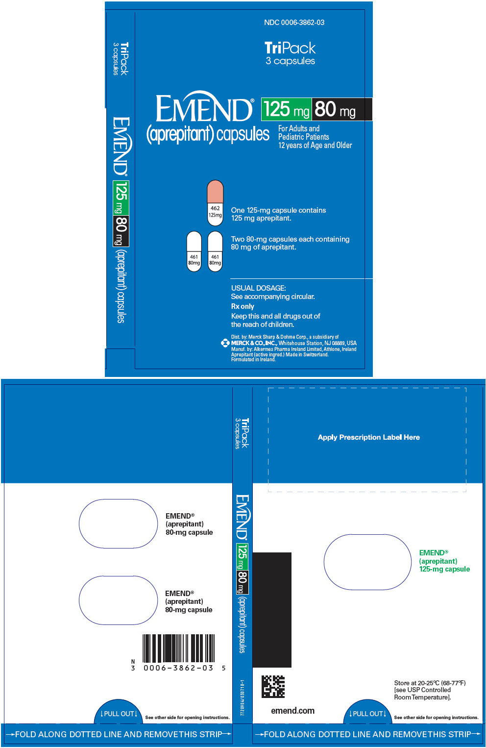 PRINCIPAL DISPLAY PANEL - 125 mg and 80 mg Capsule Kit Carton
