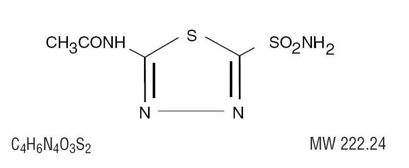 acetazolamide molecular structure