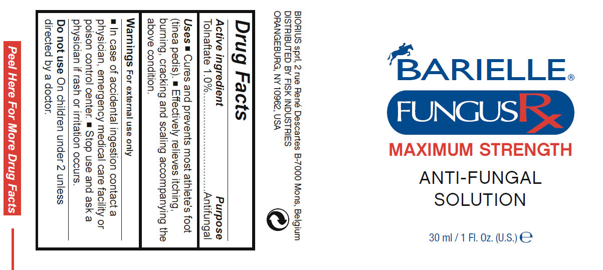 Barielle Fungus Rx Maximum Strength Anti-fungal (Tolnaftate) Solution [Fisk Industries]