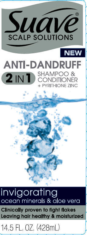 Suave Invigorating Ocean Minerals And Aloe Vera Antidandruff (Pyrithione Zinc) Shampoo [Conopco Inc. D/b/a Unilever]