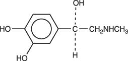 structural formula epinephrine