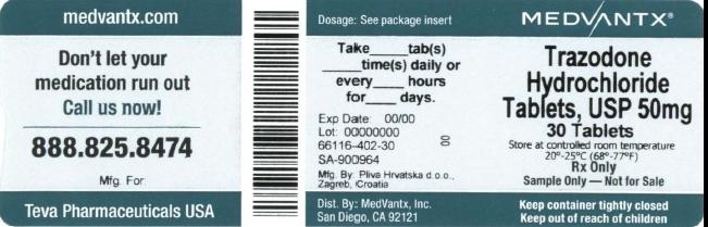 Trazodone Hydrochloride Tablet [Medvantx, Inc.]