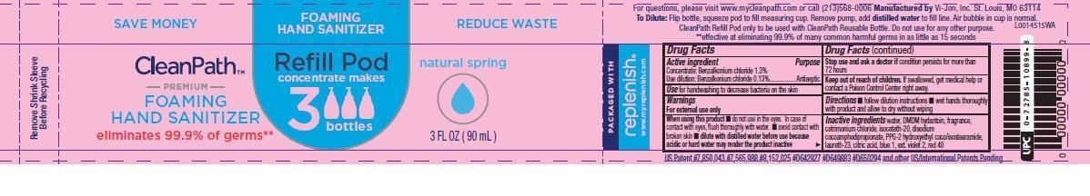 Foaming Hand Sanitizer (Benzalkonium Chloride) Liquid [Vi-jon]