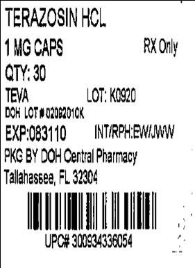 Terazosin Hcl 1 mg Caps