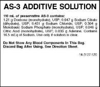 Nutricel Additive System – Cp2d (Cp2d/as-3 Anticoagulant And Additive System) Solution Nutricel Additive System – As-3 (Cp2d/as-3 Anticoagulant And Additive System) Solution [Medsep Corporation]