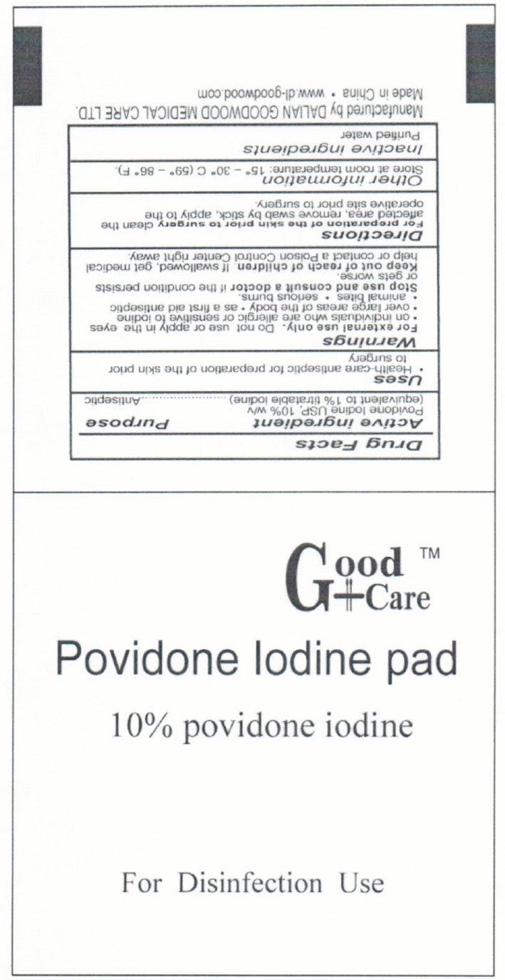 Good Care Povidone Iodine Pad (Povidone-iodine) Swab [Dalian Goodwood Medical Care Ltd. ]