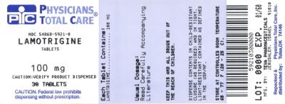 Lamotrigine Tablets 100 mg  Label