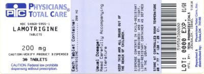 Lamotrigine Tablets 200 mg Label