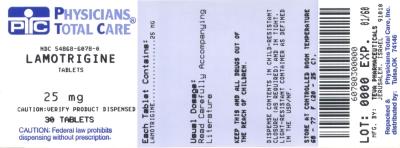 Lamotrigine Tablets 25 mg