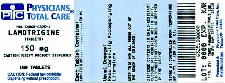Lamotrigine Tablets 150 mg  Label