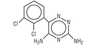 Structural Formula for lamotrigine