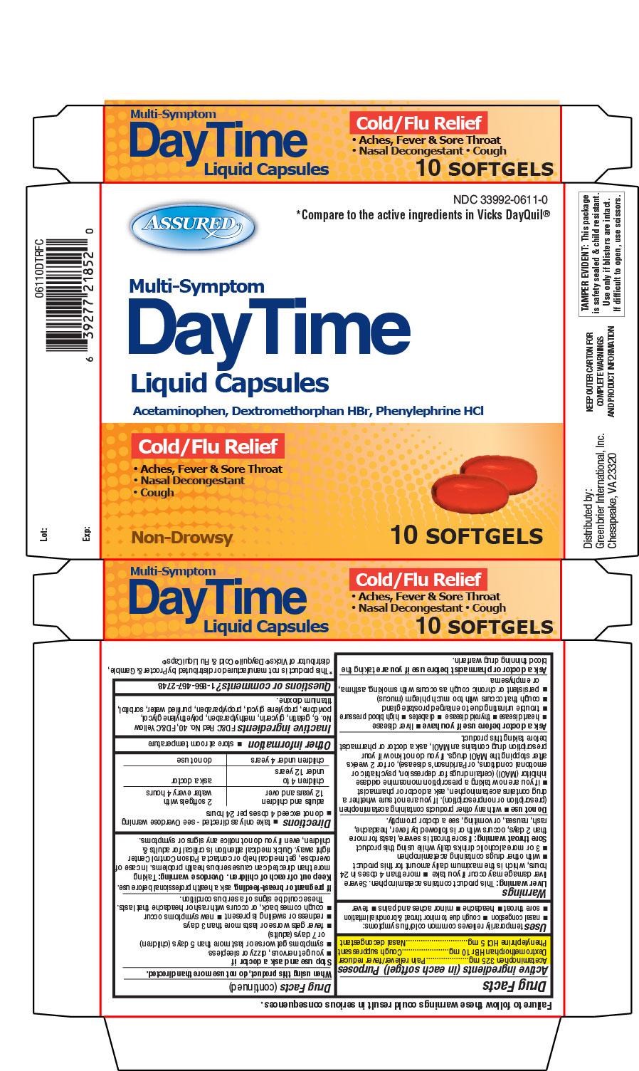 Daytime Liquid Capsules Cold/Flu Relief 10ct