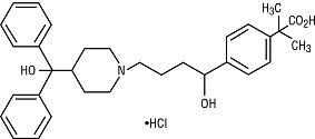 Structural Formula for Fexofenadine Hydrochloride