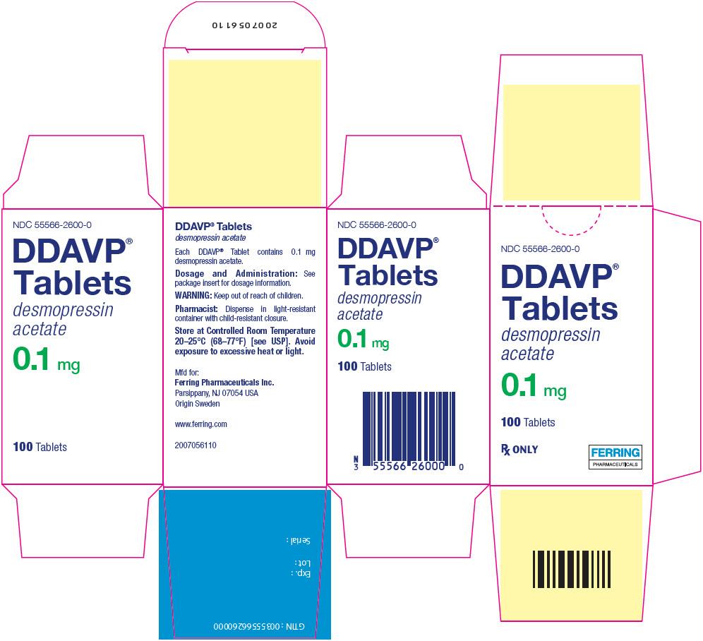 Ddavp (Desmopressin Acetate) Tablet [Ferring Pharmaceuticals Inc.]