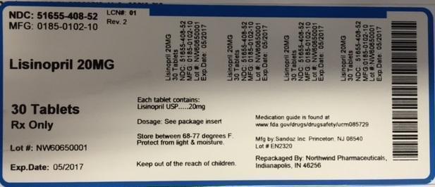 Lisinopril Tablet [Northwind Pharmaceuticals, Llc]
