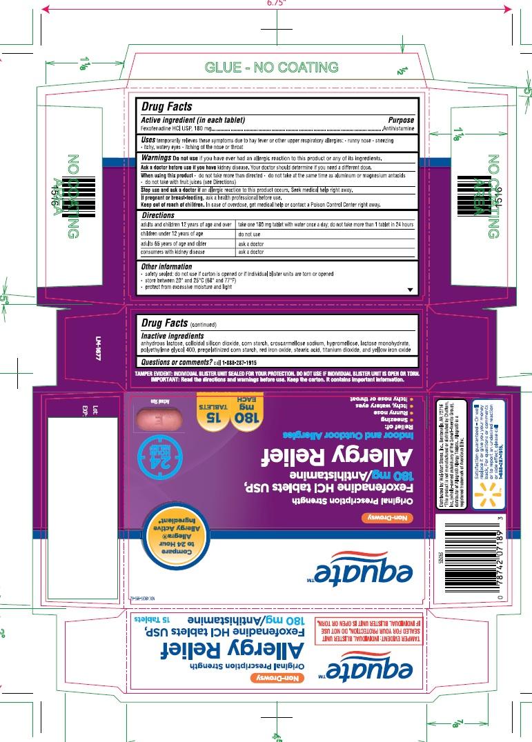 Fexofenadine Hydrochloride Tablet, Film Coated [Wal-mart Stores, Inc]