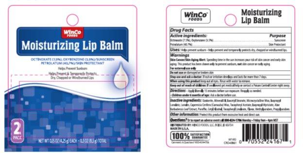 Winco Moisture Spf 15 Lip Balm (Oxybenzone, Octinoxate, Petrolatum) Stick [Winco]
